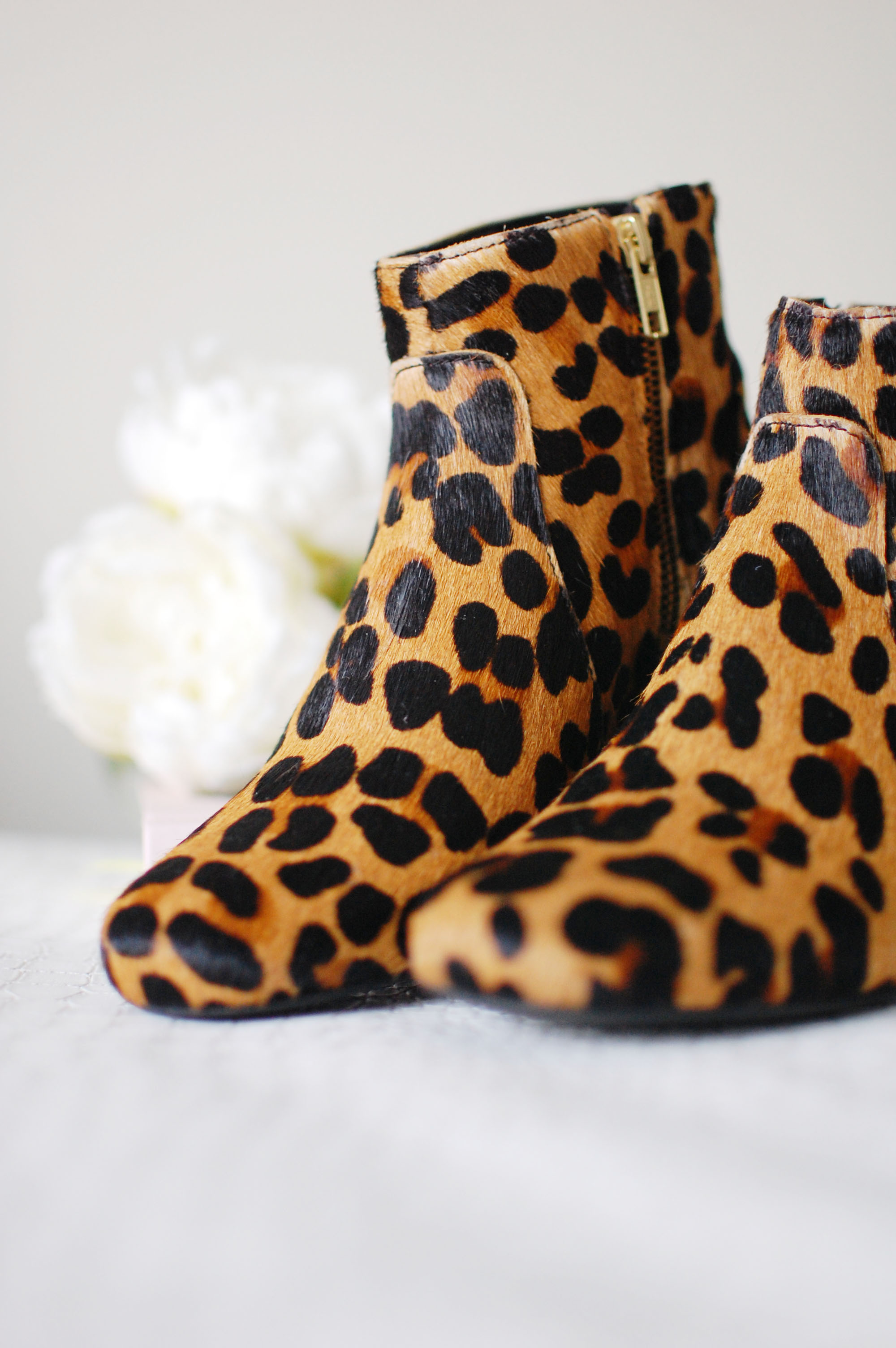 Leopard Print Ankle Boots YNiQyB8X