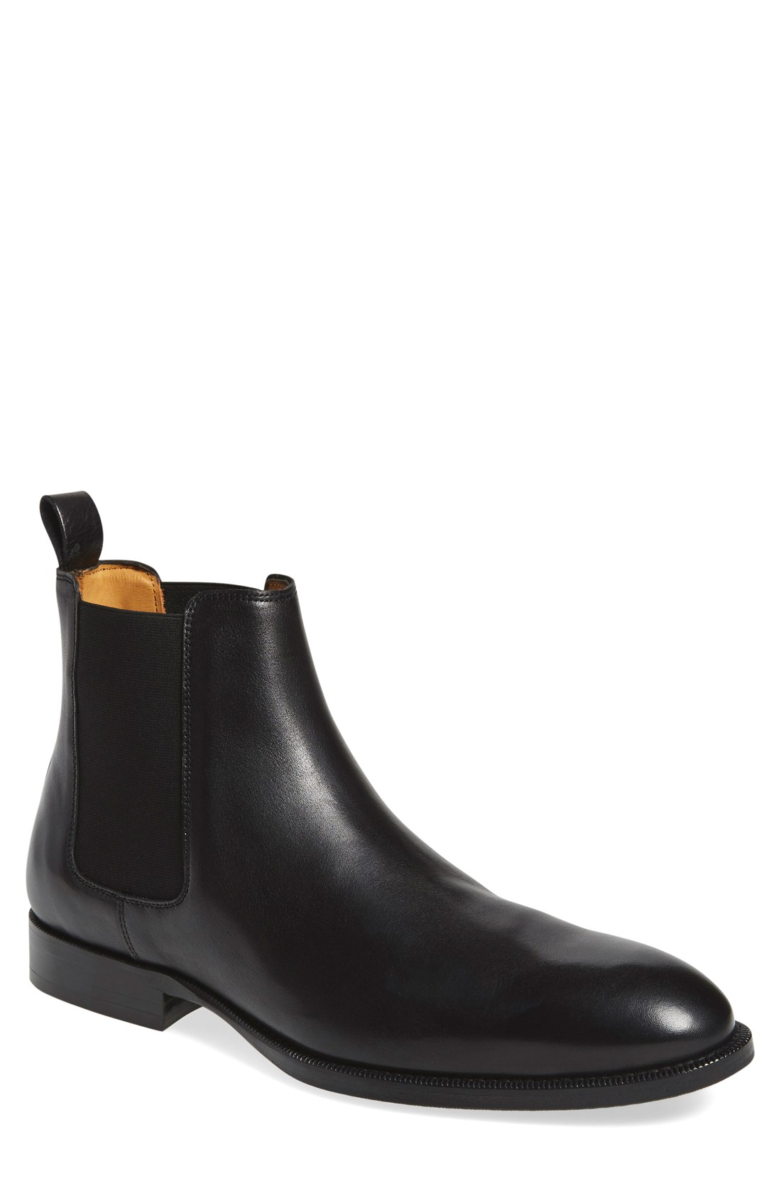Mens Black Chelsea Boots 3WCGNH93