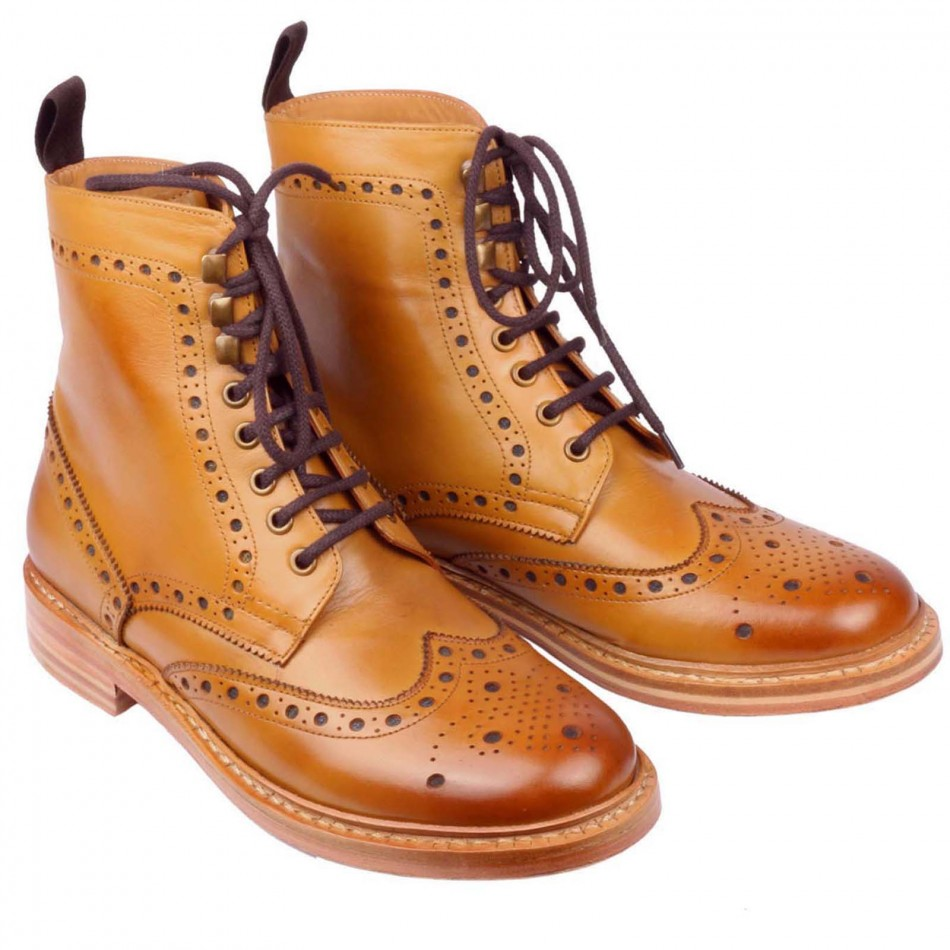 Mens Brogue Boots qFMSm9fD