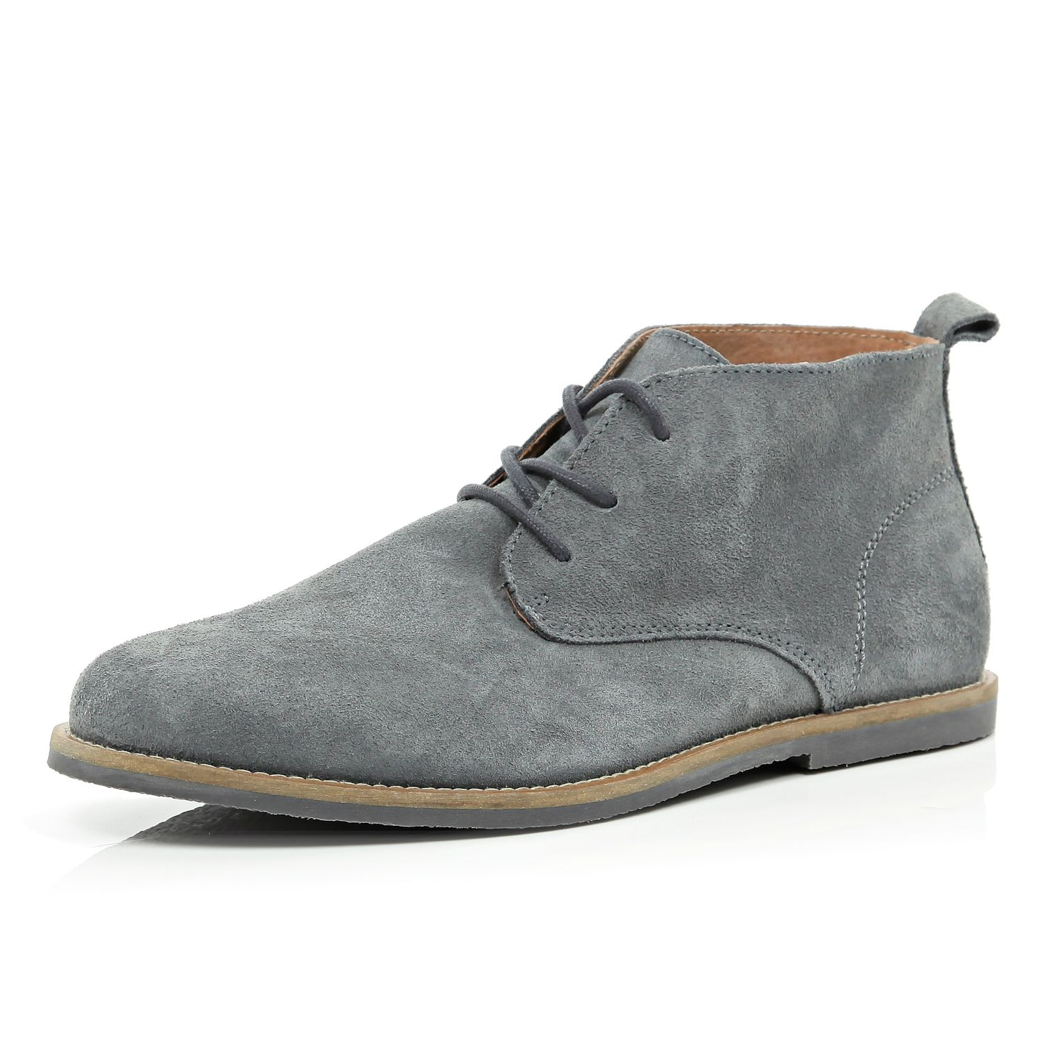 Mens Grey Boots dOyrCHVJ