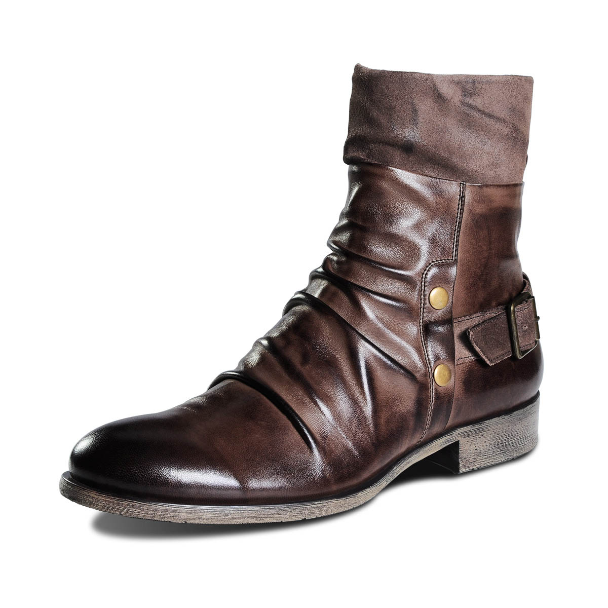 Mens Leather Dress Boots Kq1uVcgy