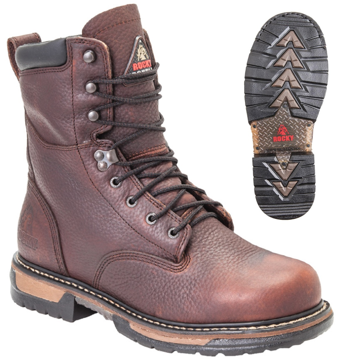 Mens Leather Work Boots 2192Ywc3