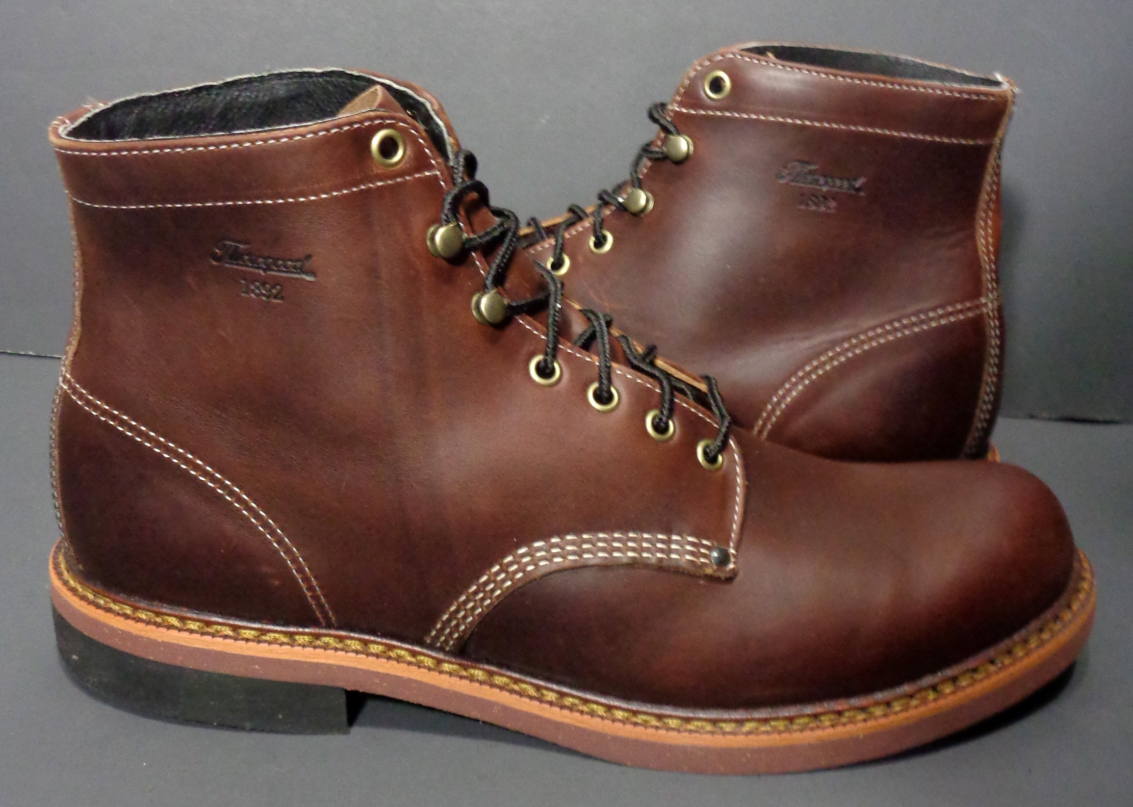 Mens Leather Work Boots 7EmMnGLX