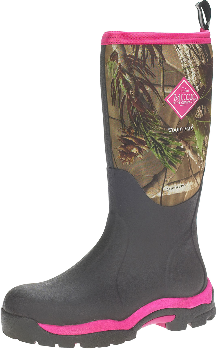 Womens Woody Max Wellington Boots, Hot Pink The Original Muck Boot Company