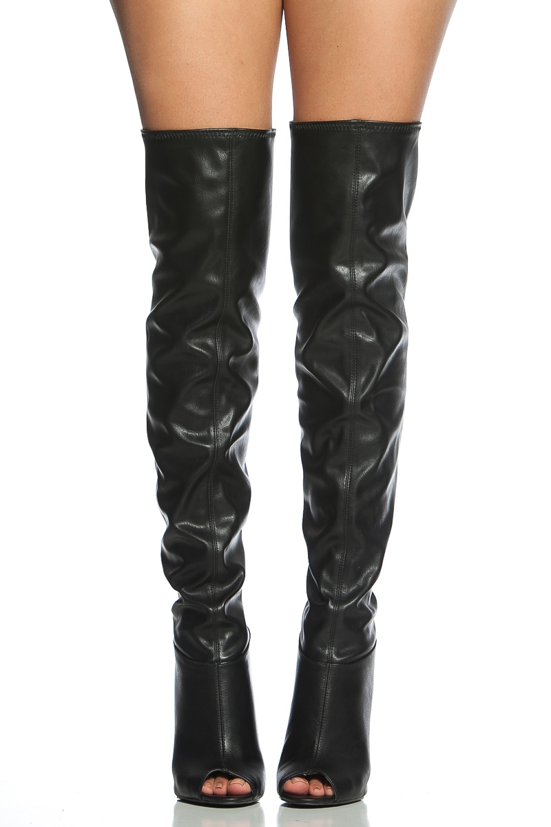 Open Toe Thigh High Boots fWm95lgf
