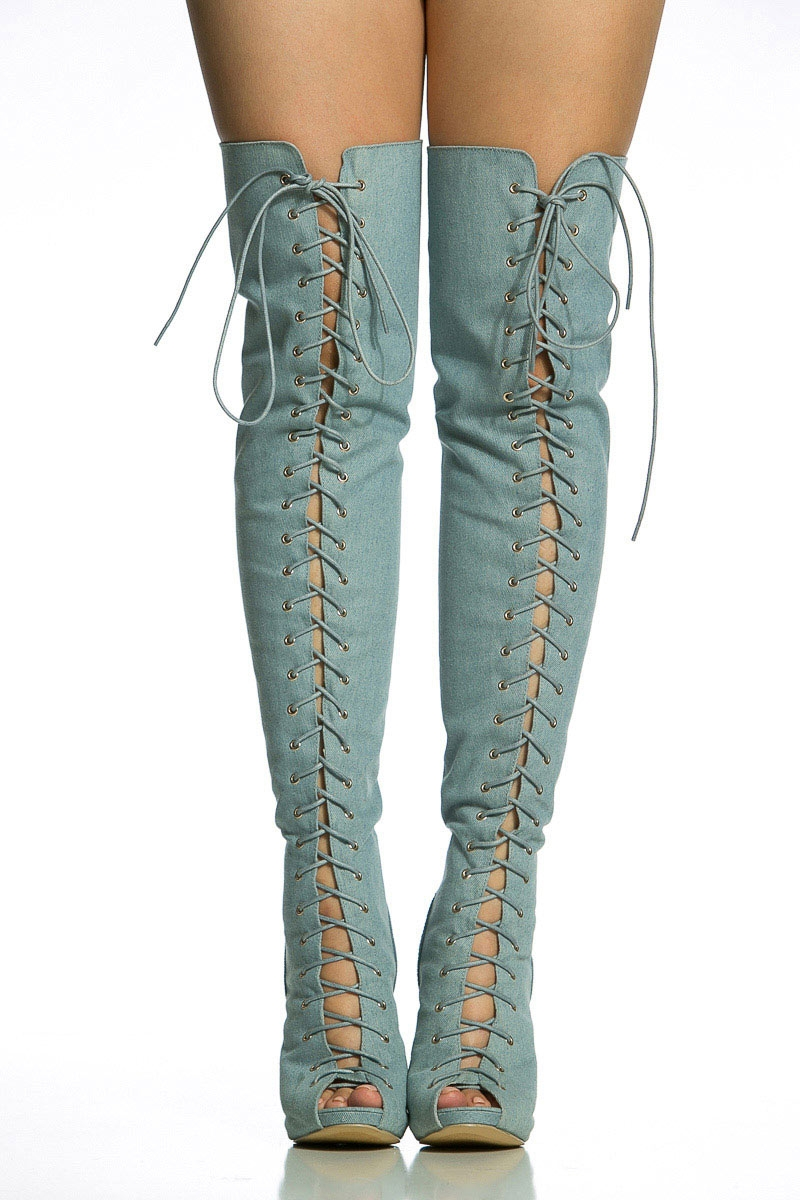 Open Toe Thigh High Boots WN4EebaA