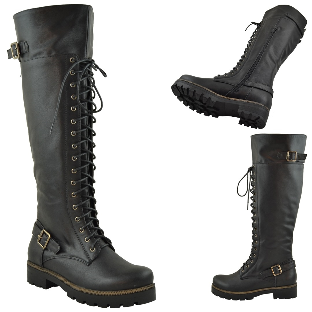 Over The Knee Combat Boots 7bL8whMb