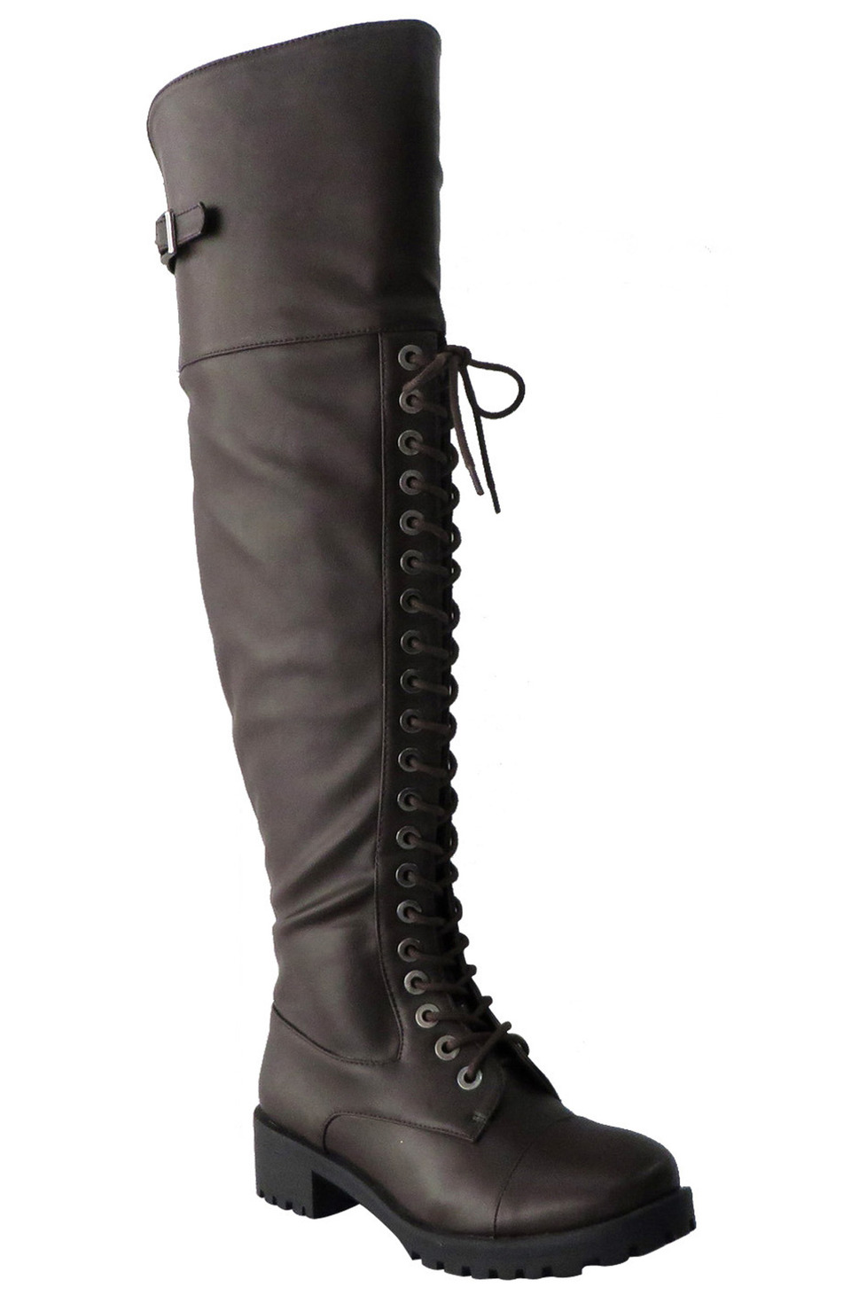 Over The Knee Combat Boots 4NZHVyIr