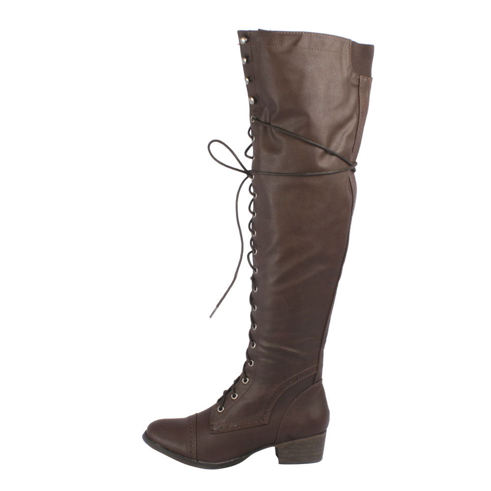 Over The Knee Combat Boots s9wy8YPg