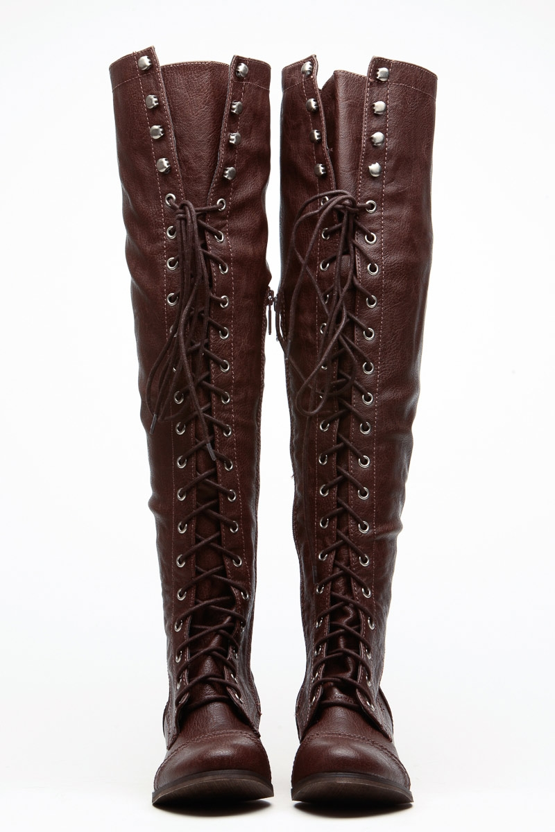 Over The Knee Combat Boots 2HvLVjCc