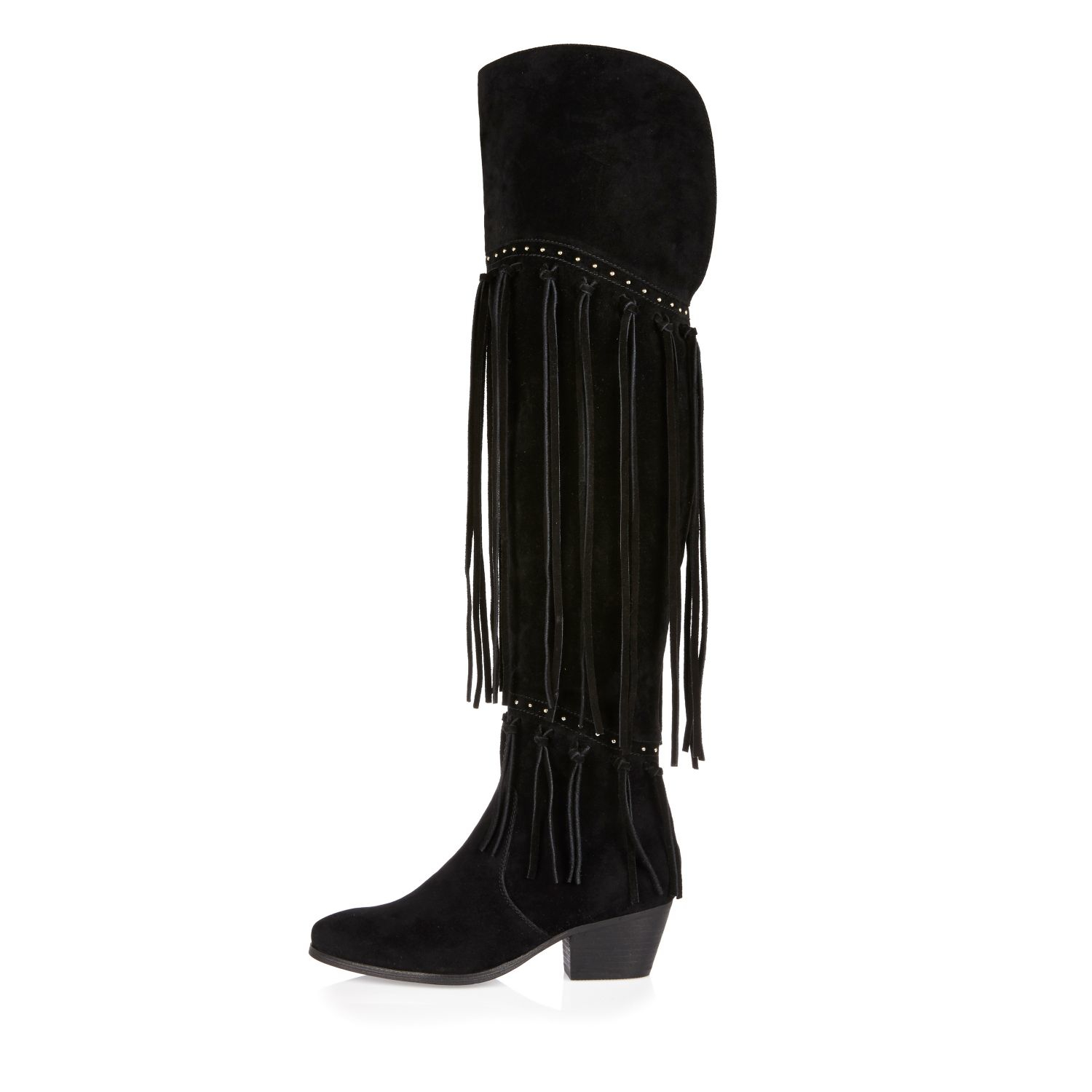 Over The Knee Fringe Boots lWCiIPW7