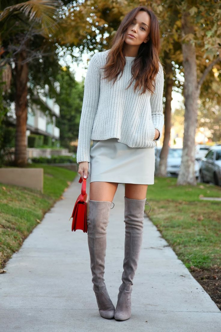 Over The Knee Grey Boots mkeYbsrV
