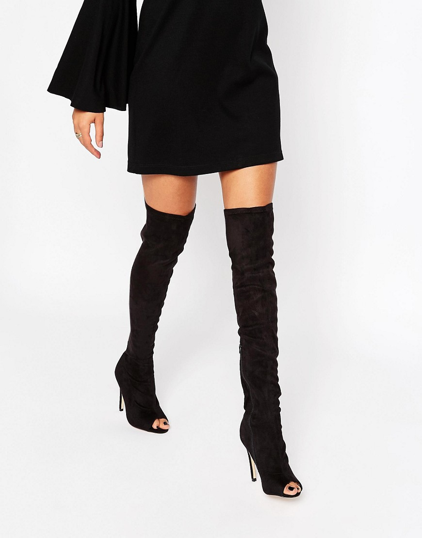 Over The Knee Peep Toe Boots bDQwDFhE