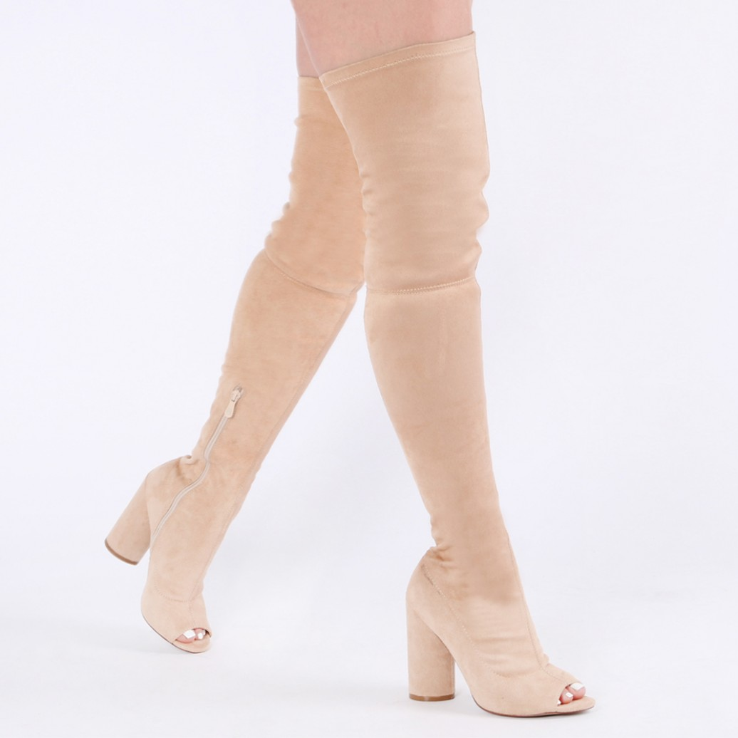 Over The Knee Peep Toe Boots jJK33TBC