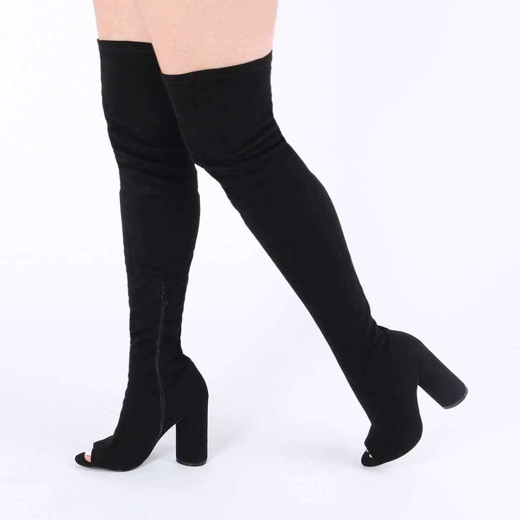 Over The Knee Peep Toe Boots kvTEnxzL