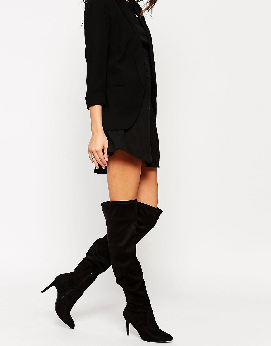 Over The Knee Stretch Boots 163xkCsq