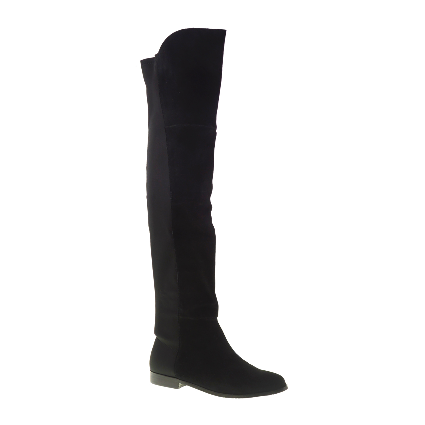 Over The Knee Suede Black Boots NCA8zMZS