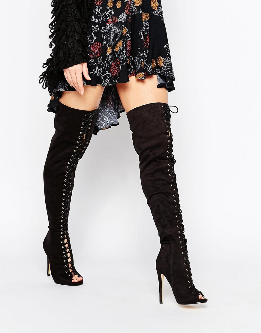 Peep Toe Over The Knee Boots imthYdky