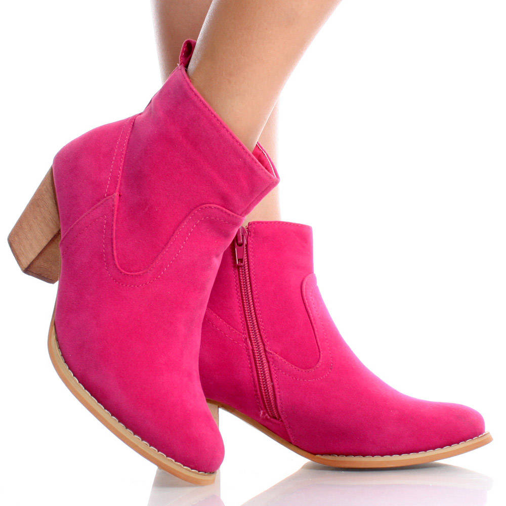 Pink Ankle Boots 82qsj2y2