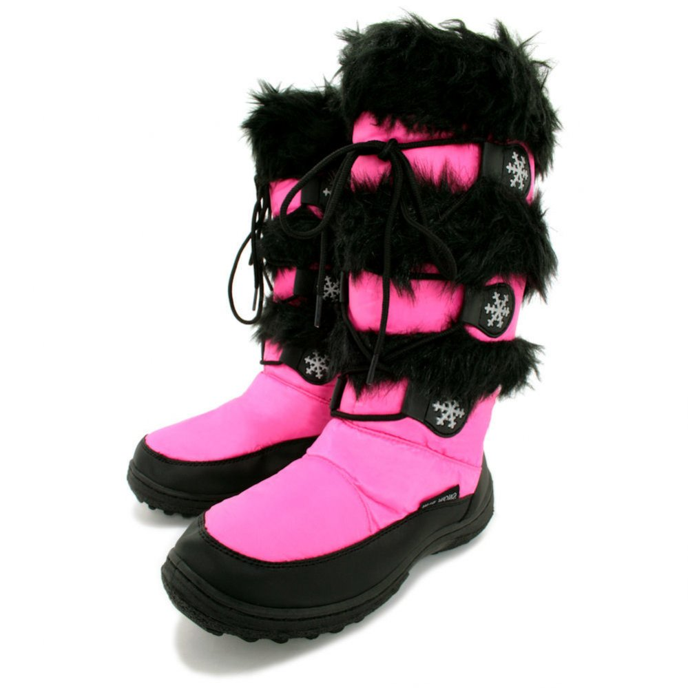 Pink Snow Boots fK10PATC