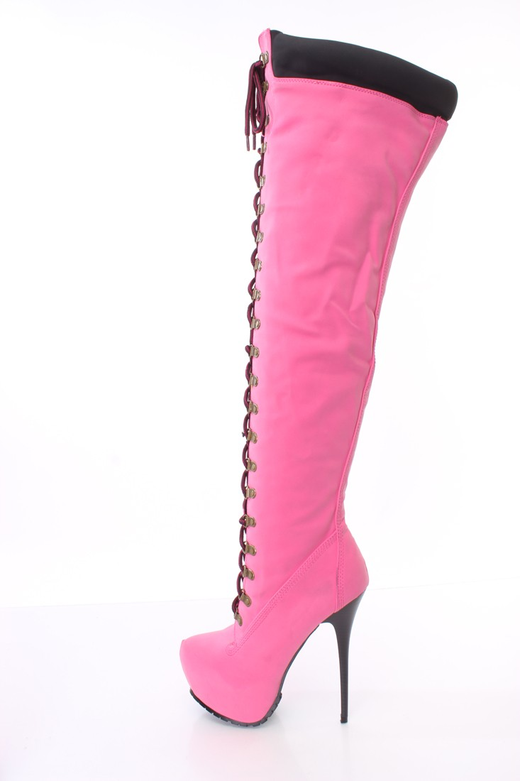 Pink Thigh High Boots tGBFwFNW