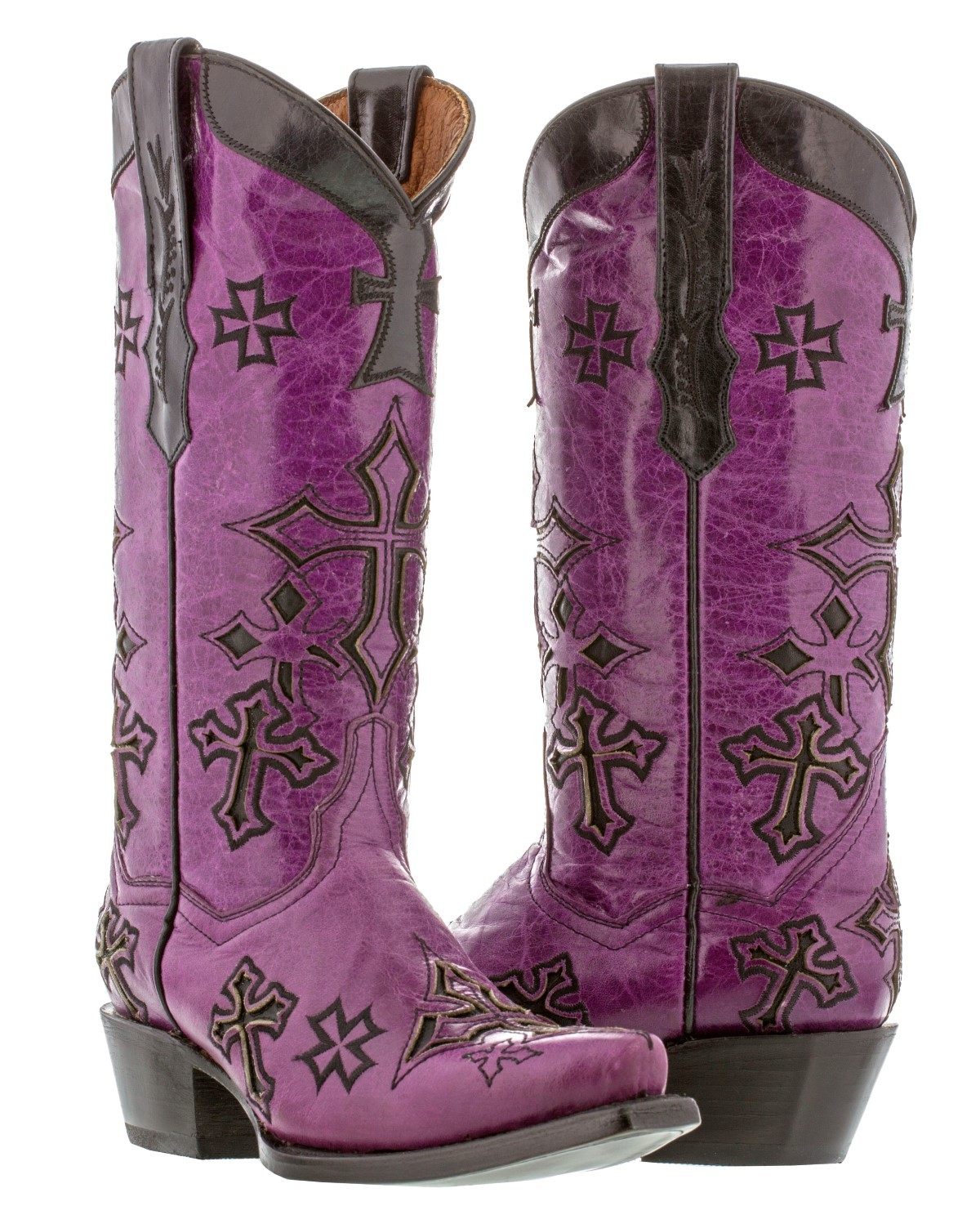 Purple Cowgirl Boots OR5W1fWU