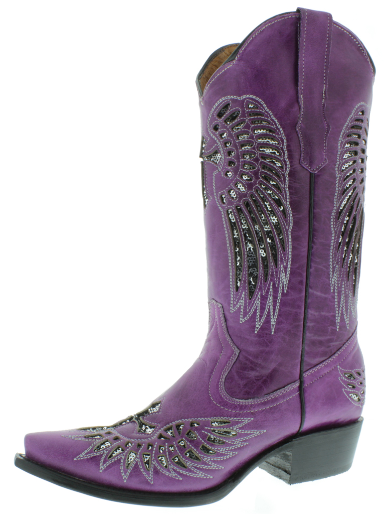Purple Cowgirl Boots fexNf8wq
