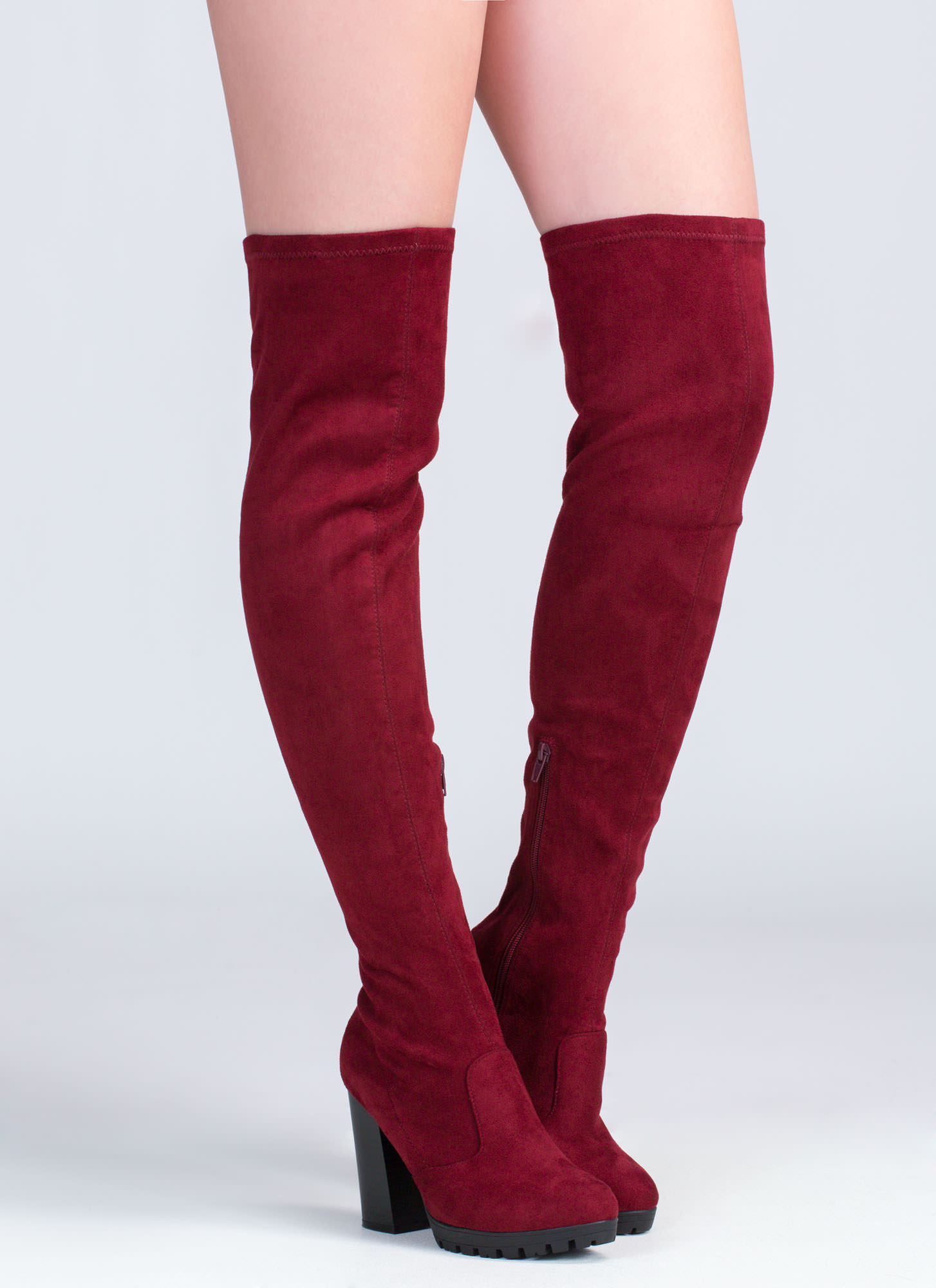 Red Over The Knee Boots jJjoiifJ