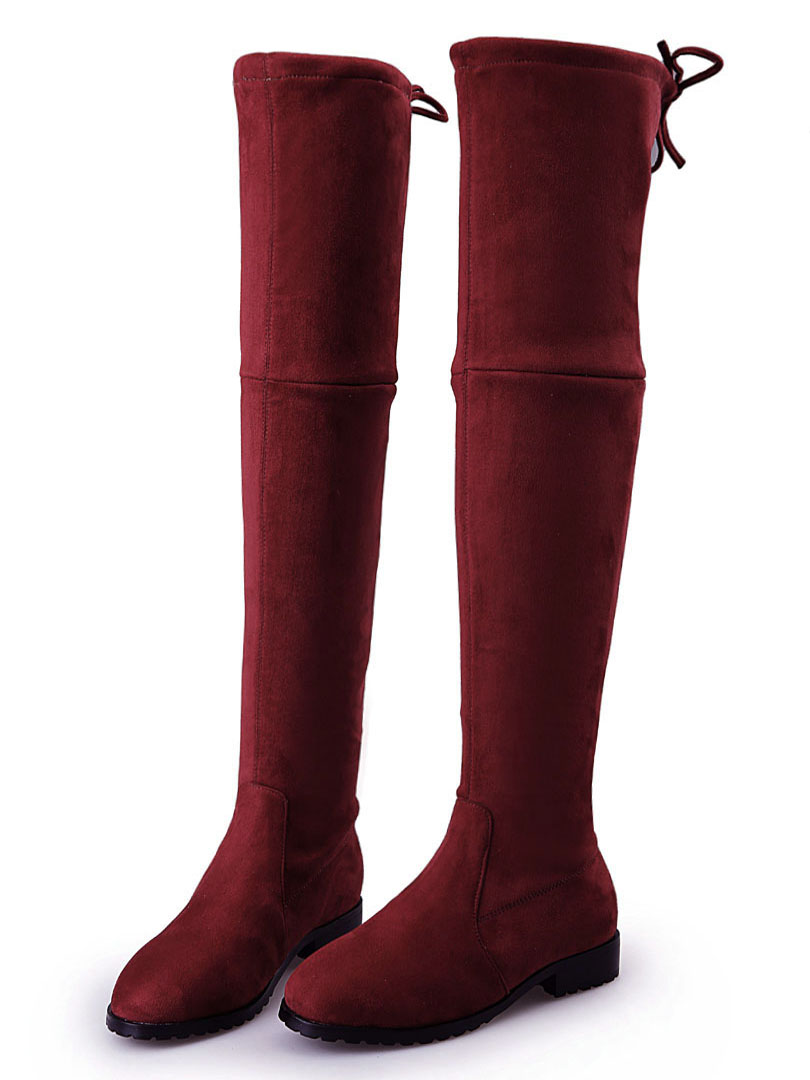 Red Over The Knee Boots Tkr7DEQi