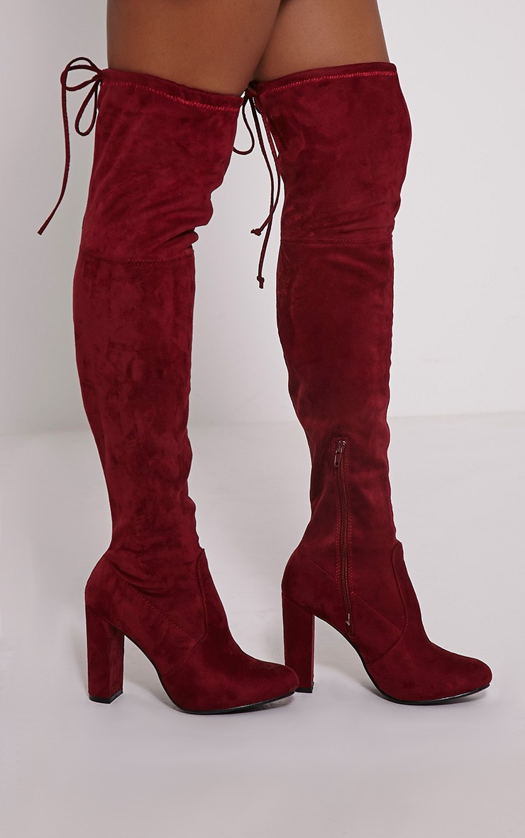 Red Over The Knee Boots lUACk84J