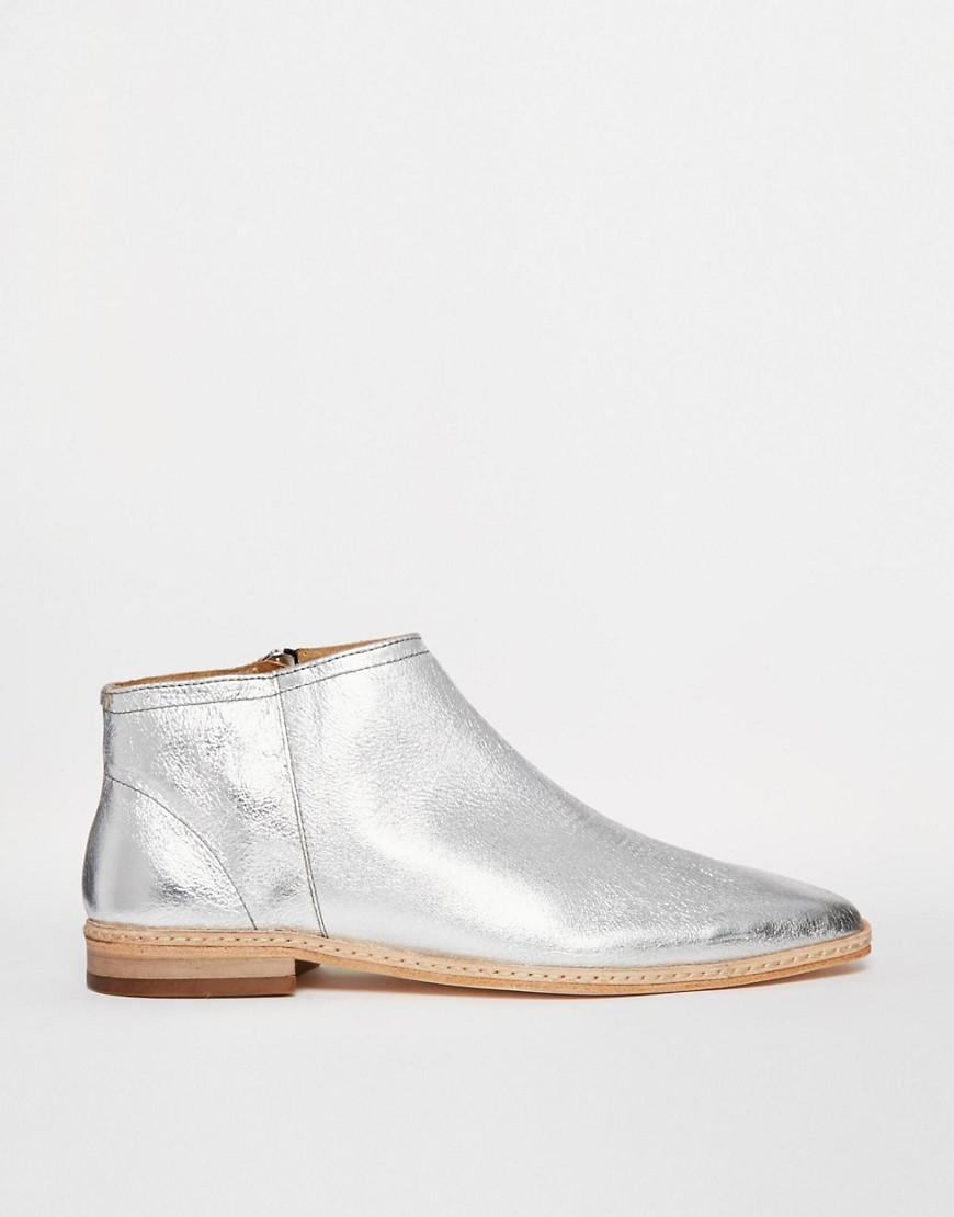 Silver Ankle Boots wXlTwOaE