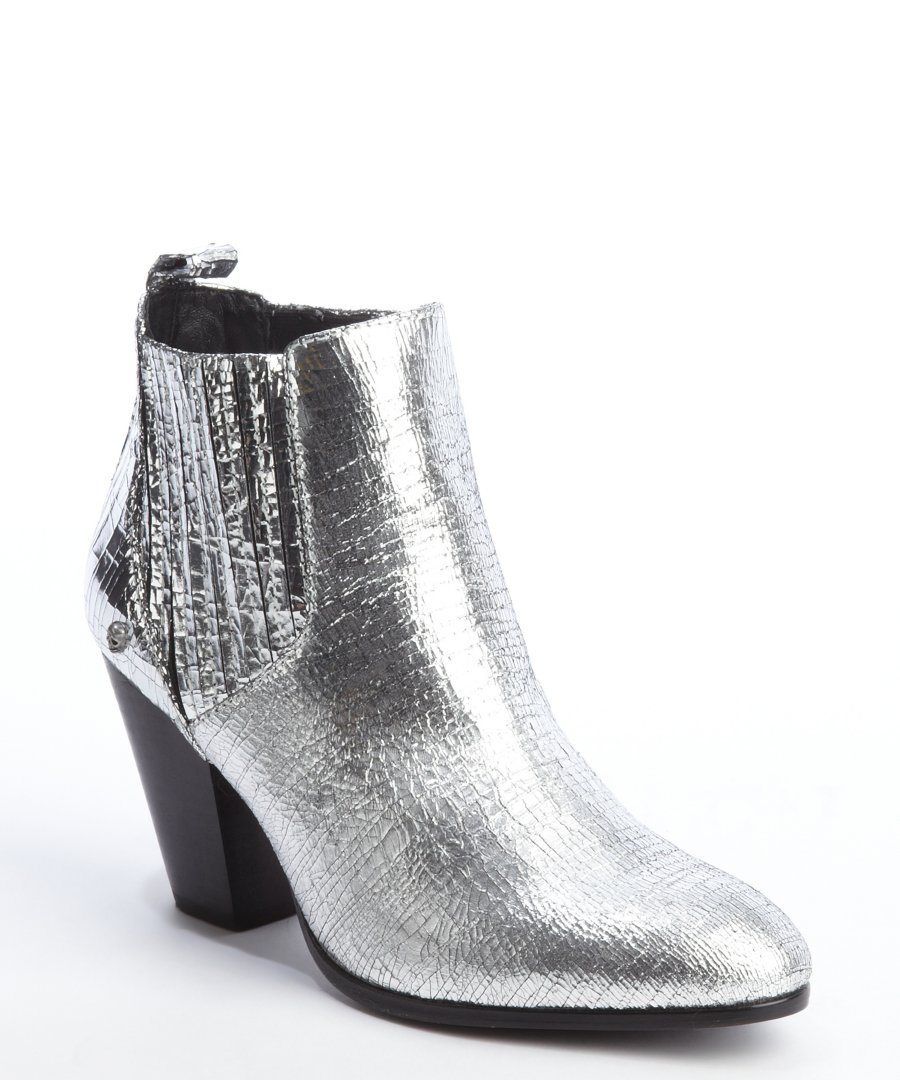 Silver Ankle Boots WIjZCpSL