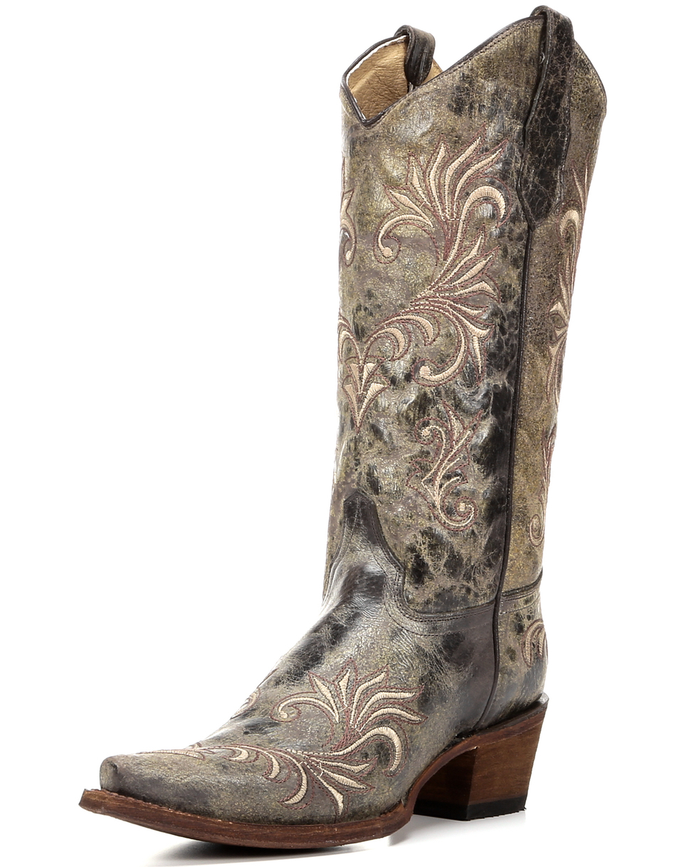 Silver Cowgirl Boots Hvo60MST