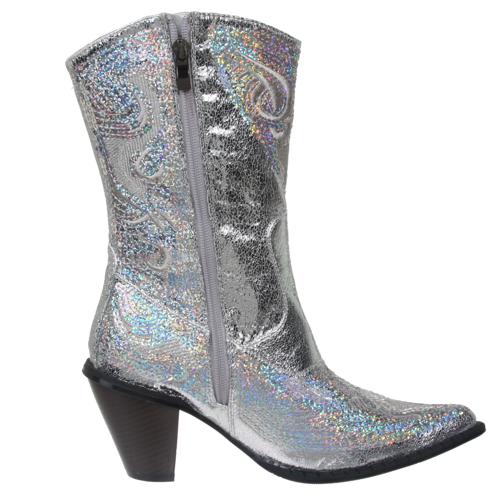 Silver Cowgirl Boots EjYP56MF