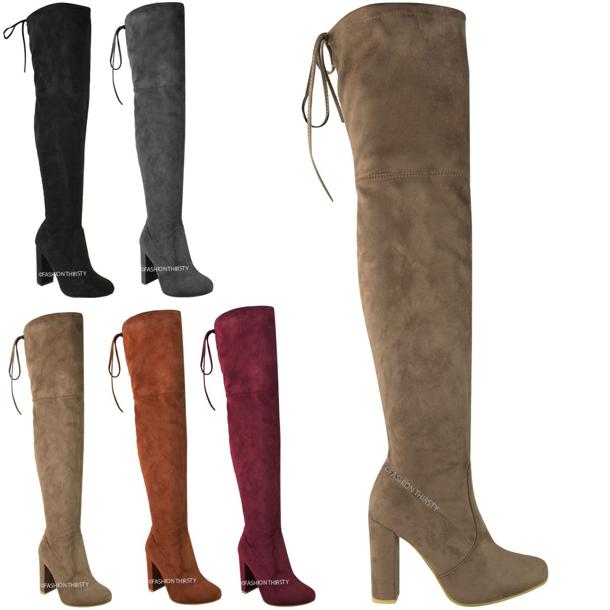 Stretch Thigh High Boots iVBD0v7V