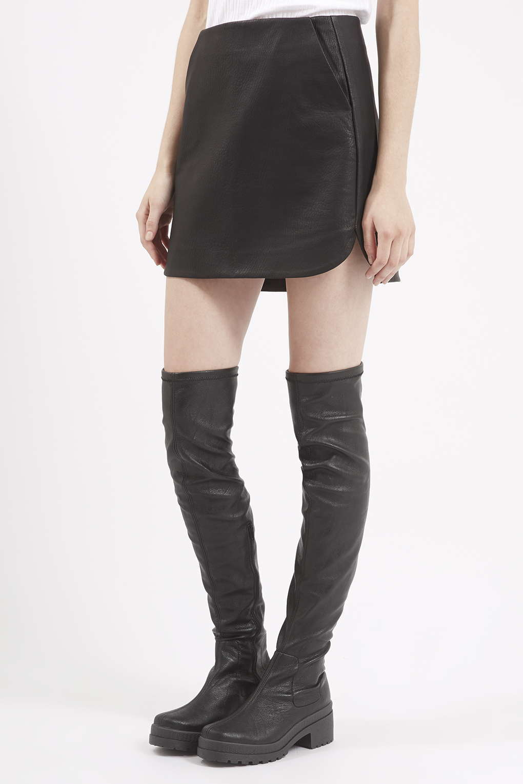 Suede Over The Knee Boots Flat QohCb2kF