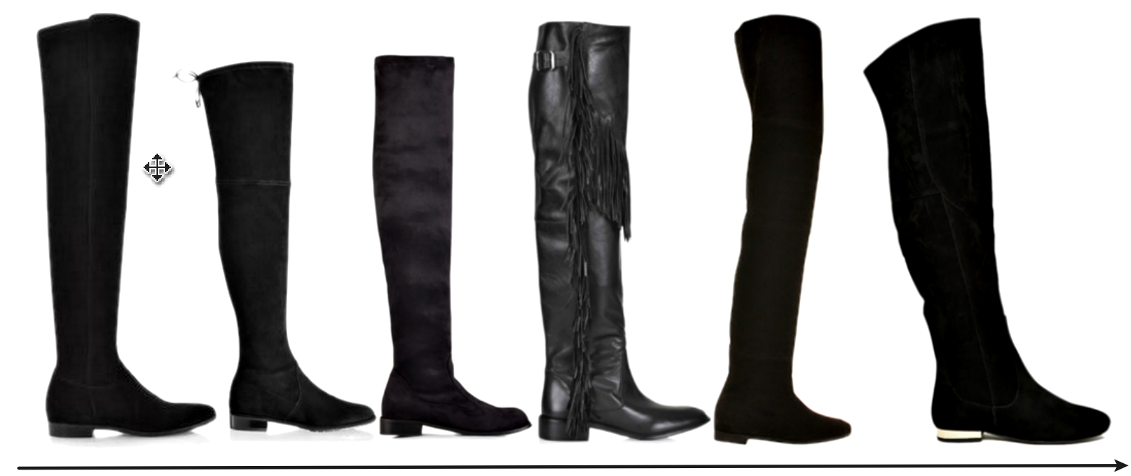 Suede Over The Knee Boots Flat pBitOaMf