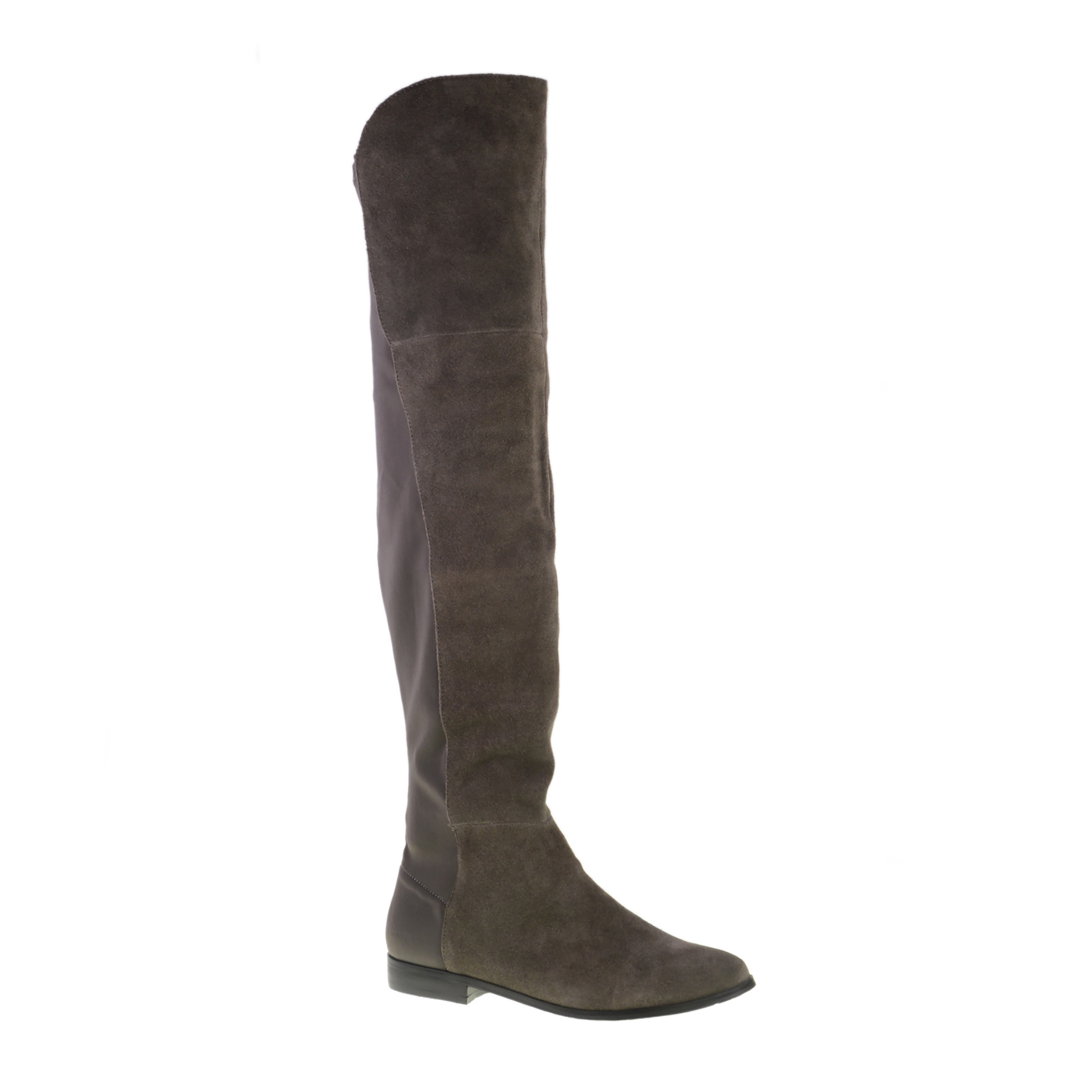 Suede Over The Knee Boots Flat 6ahfoMe8