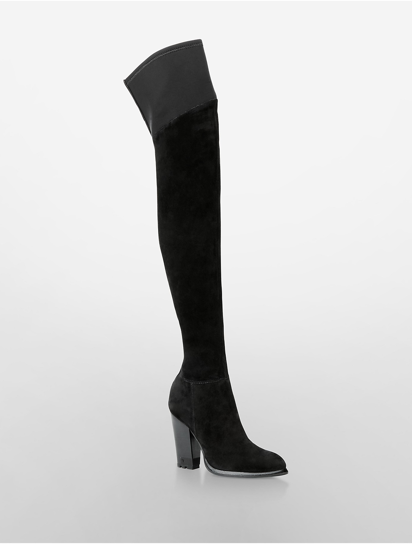 Suede Over The Knee High Heel Boots OTwiWK9V