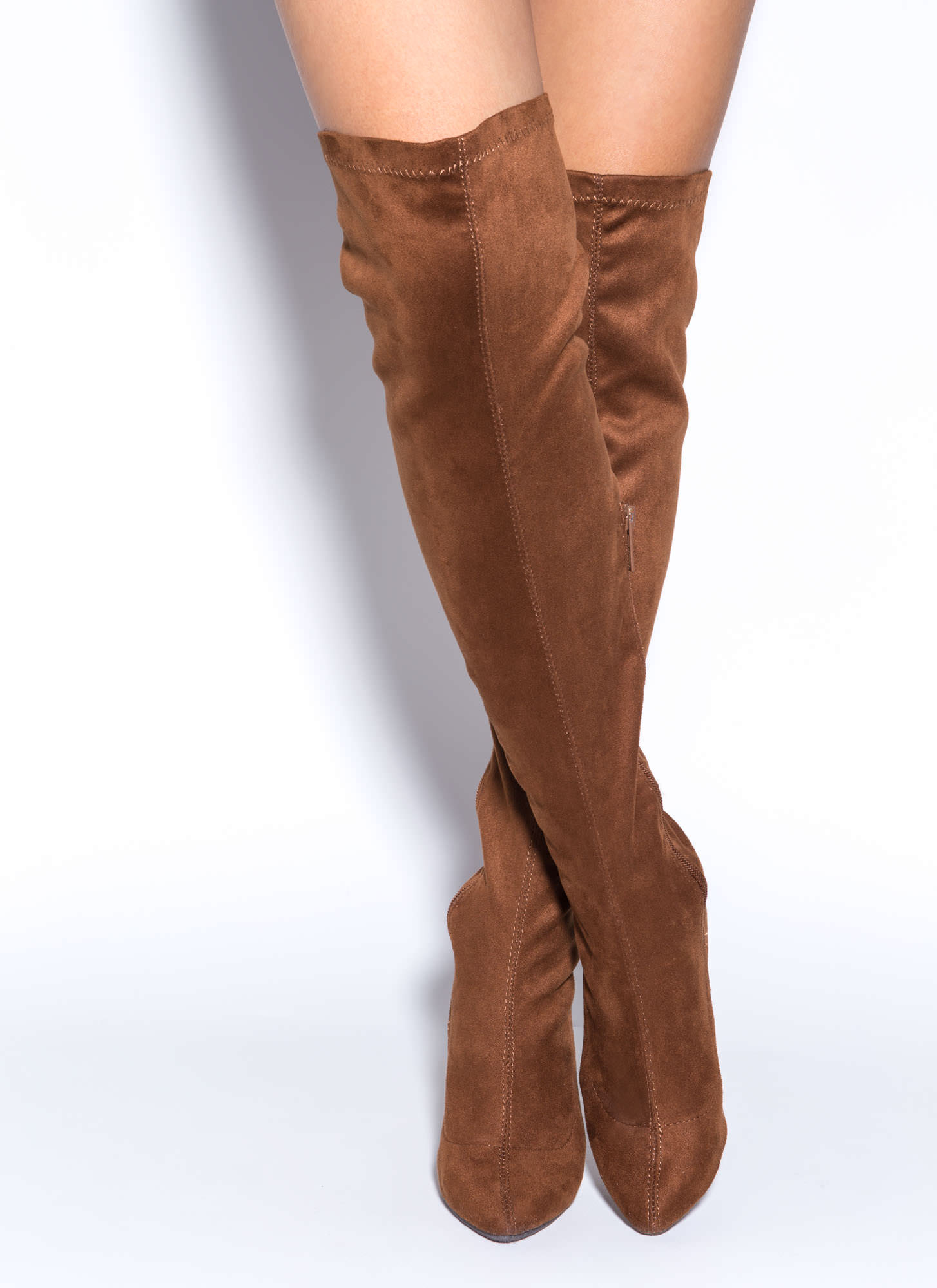 Tan Over The Knee Boots hEBATcaU