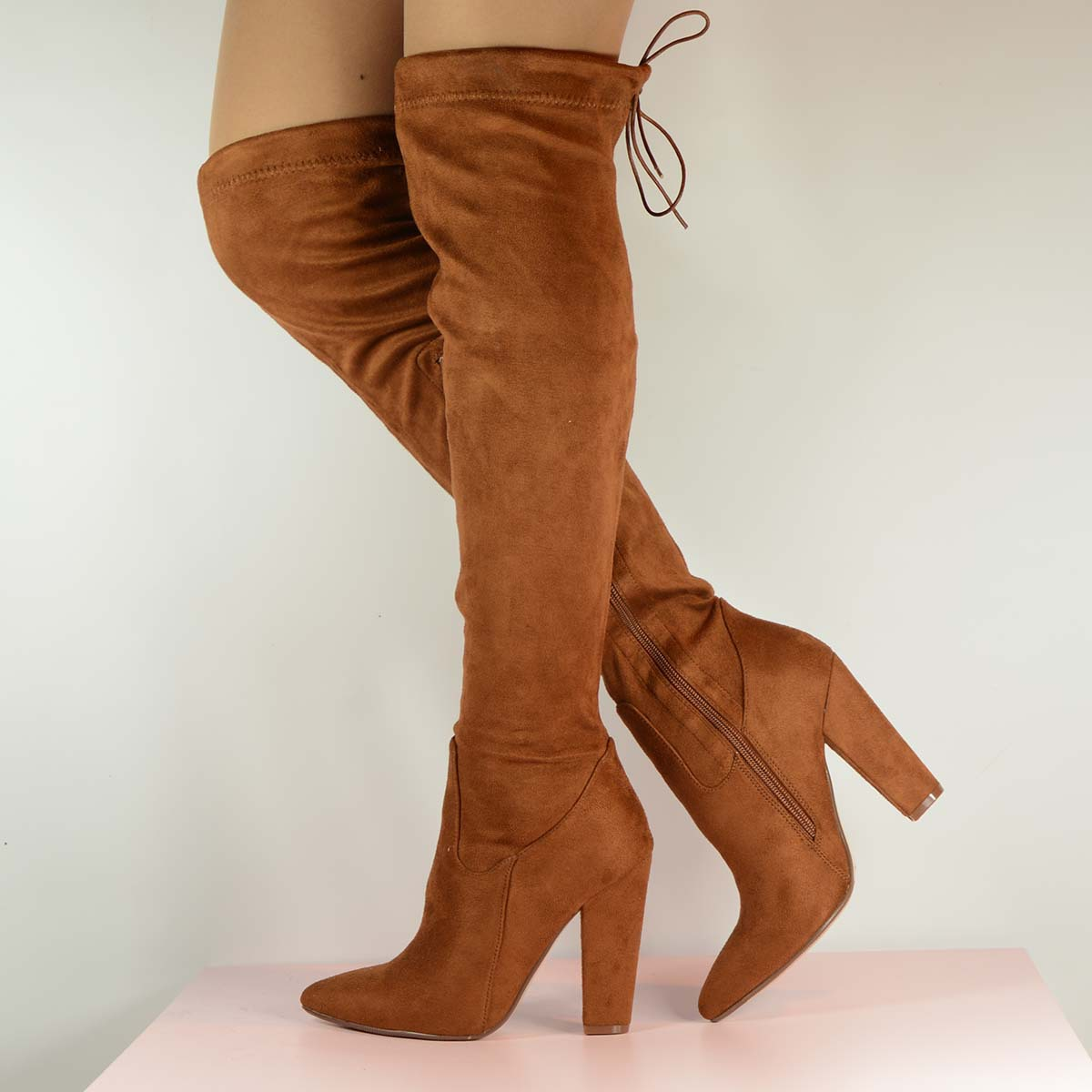 Tan Thigh High Boots ACQe6q6P