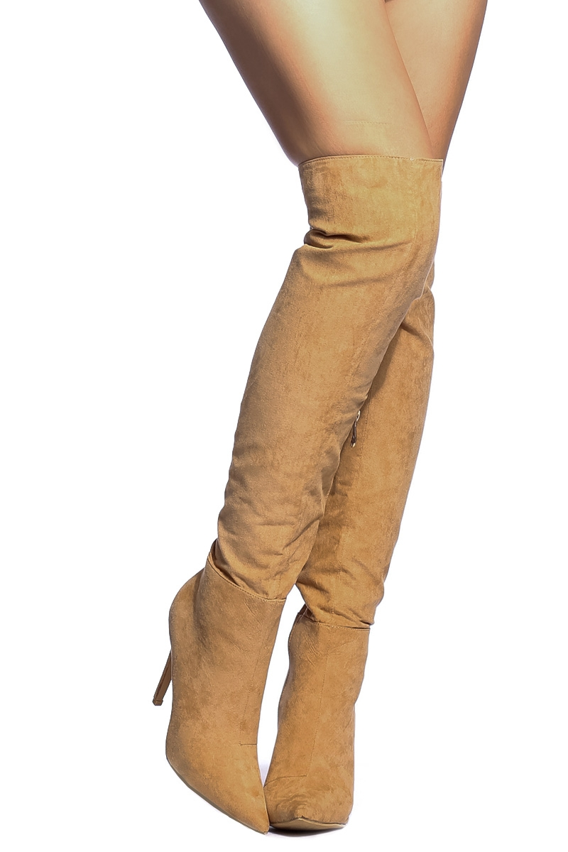 Tan Thigh High Boots L8sBQA2x