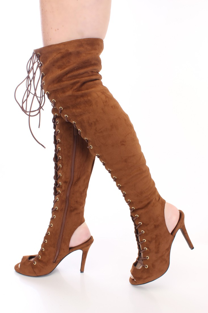 Tan Thigh High Boots yd06orzY