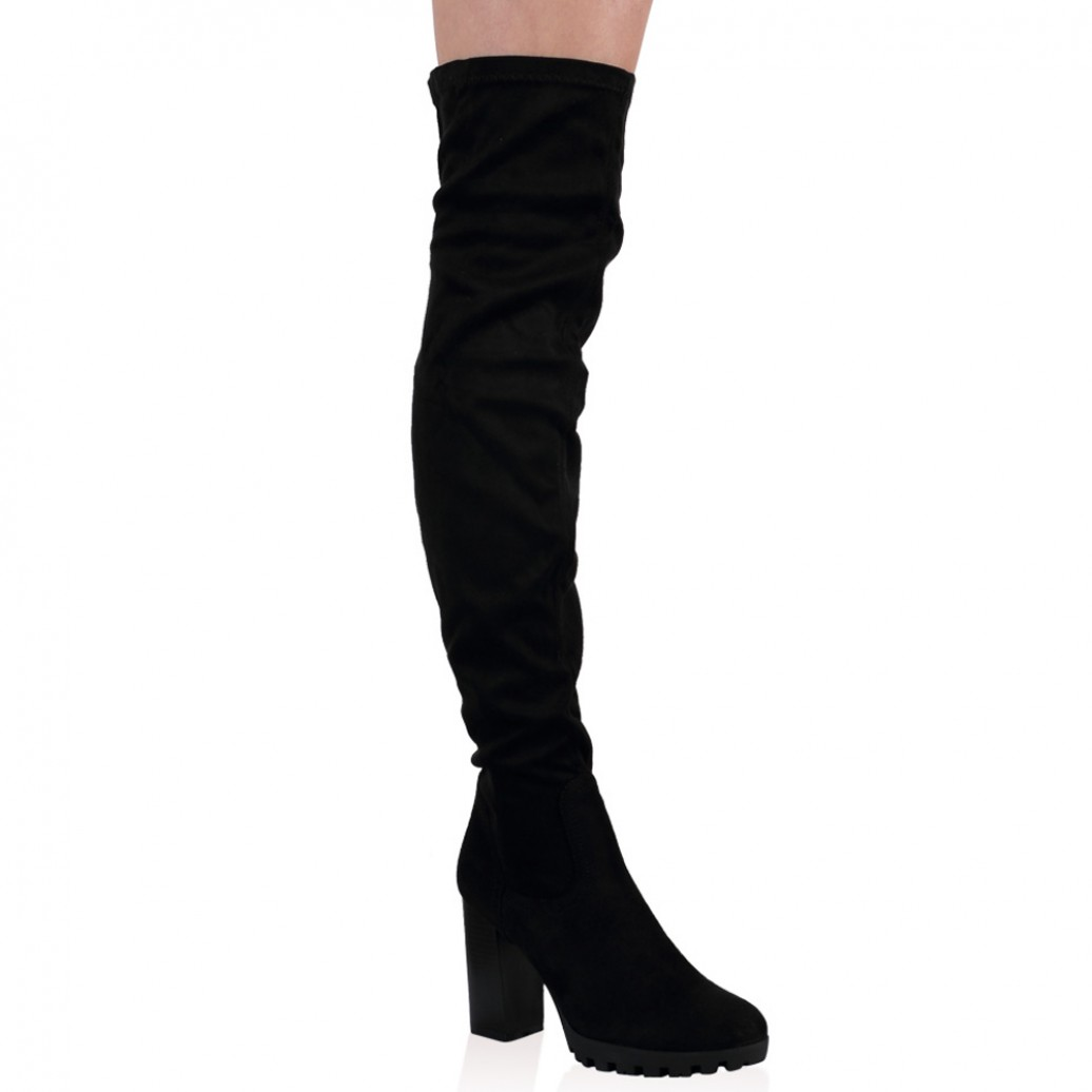 Thigh High Black Suede Boots Wmm4QHy6