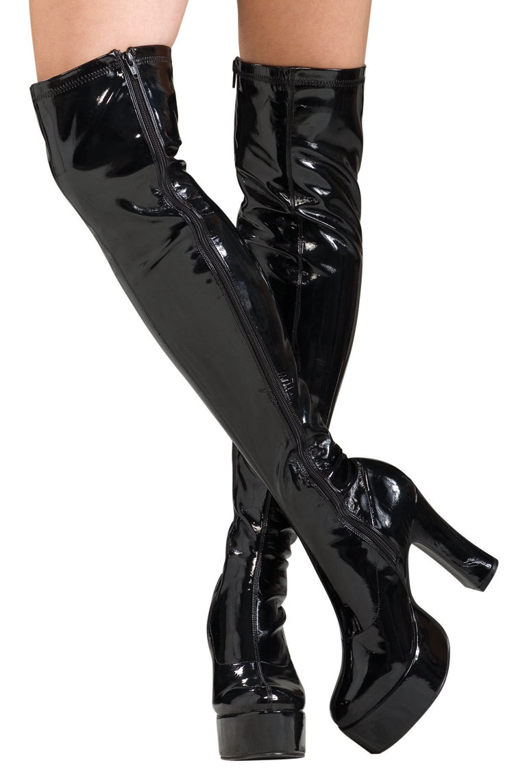 Thigh High Boots Black xpOkxudv