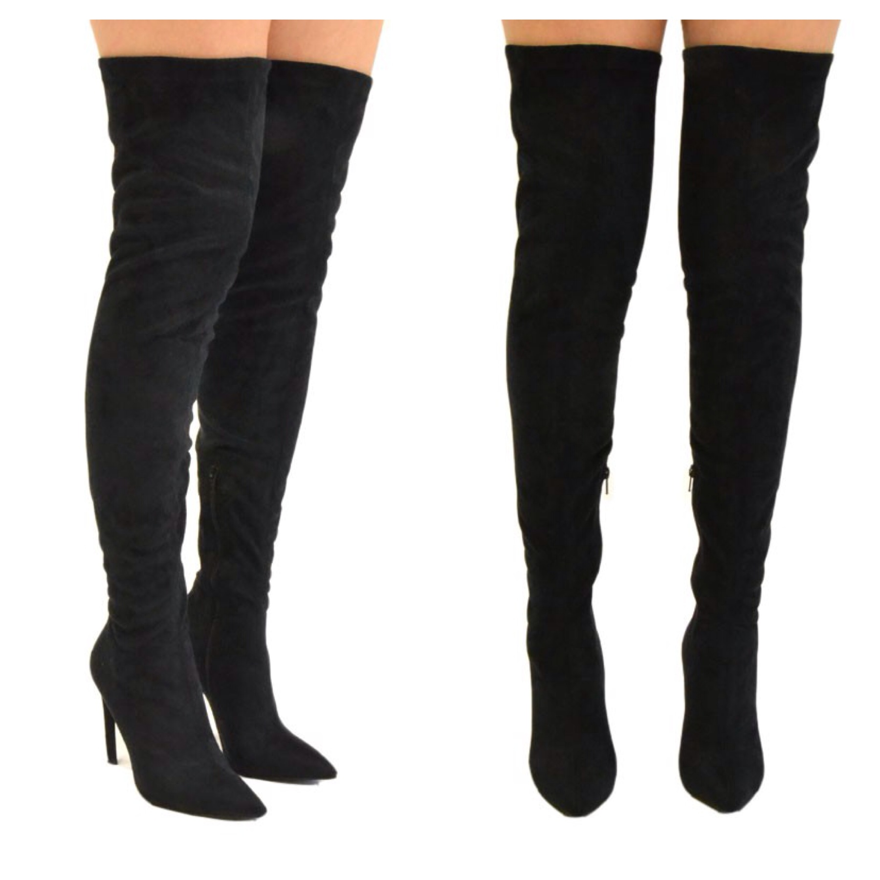 Thigh High Boots Black XByewJLq