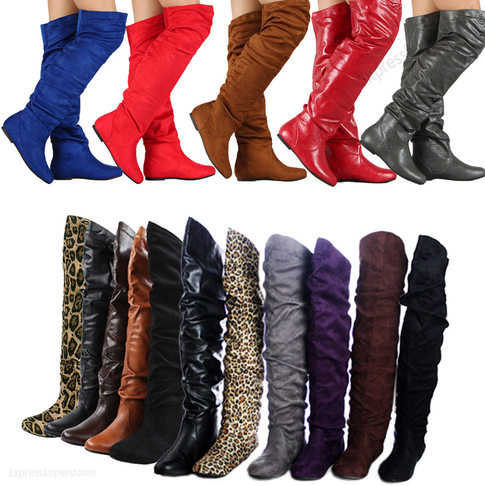 Thigh High Boots Size 12 XmmHpUZe