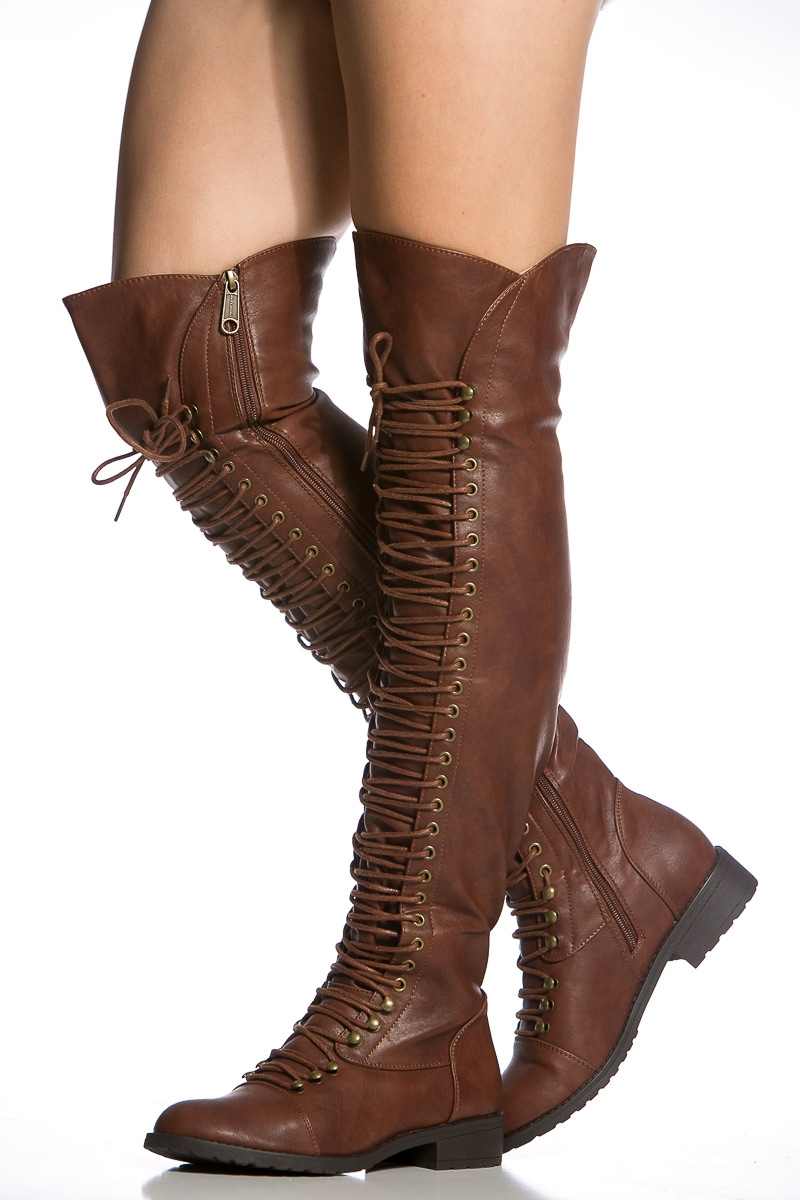 Thigh High Brown Boots pVNUq5AR