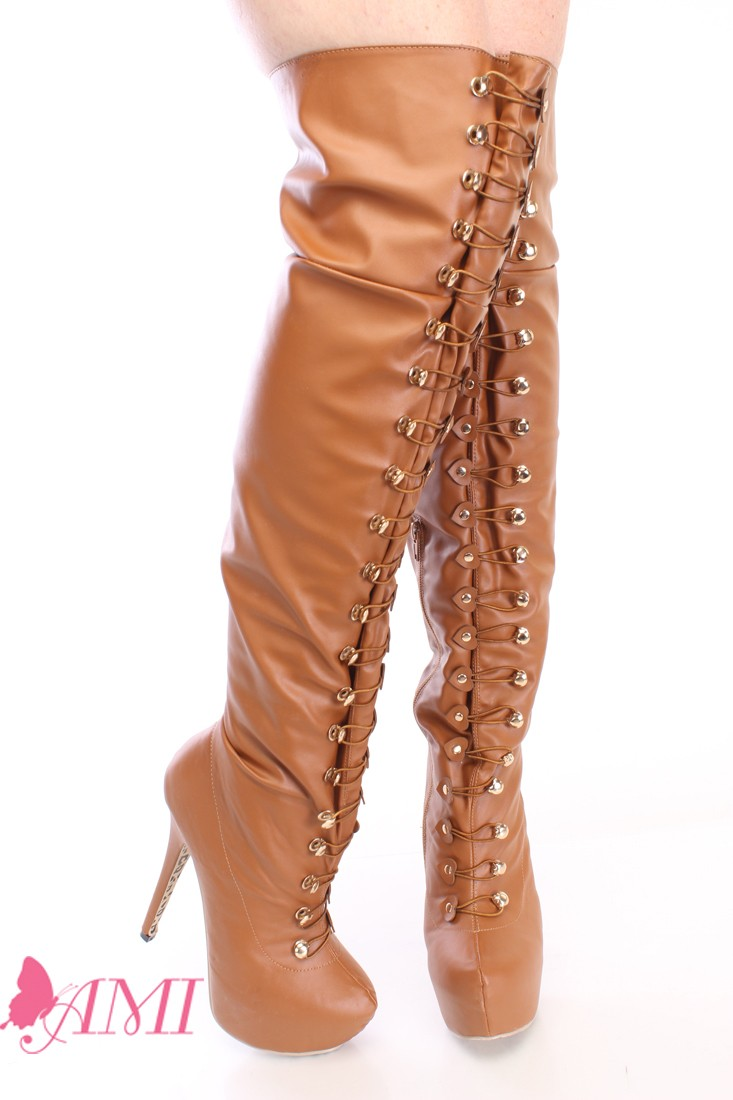 Thigh High Brown Boots pbojG8Vd