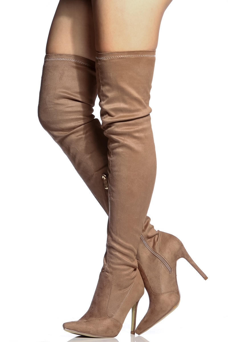 Thigh High Heeled Boots ZpZ4OX0k